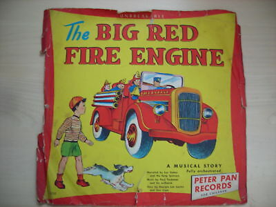 """Peter Pan Records The BIG RED FIRE ENGINE 10"""" 78 RPM"""