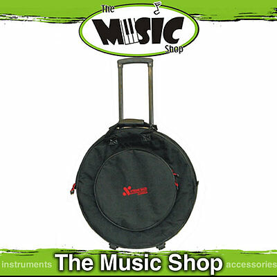 "Xtreme 22"" Cymbal Bag with Wheels and Pull Along Handle - Padded Drum Cymbal Bag"