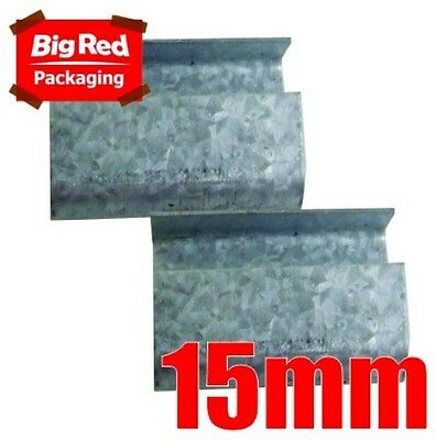 250(approx) x 15mm Steel Open Seals for Poly Strapping
