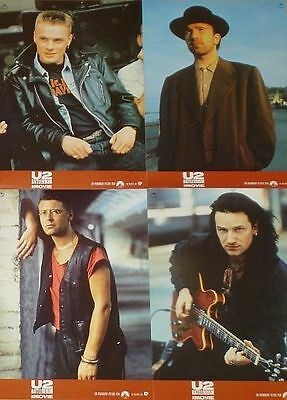 U2 RATTLE AND HUM - Lobby Cards - Bono, The Edge, Adam Clayton, Larry Mullen Jr.