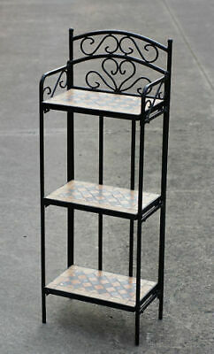 Flower Stand Mosaic Top, Powder Coated Frame #FS005