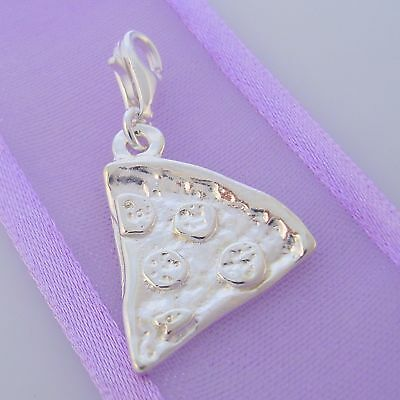 STERLING SILVER PIZZA 18mm CLIP ON CHARM
