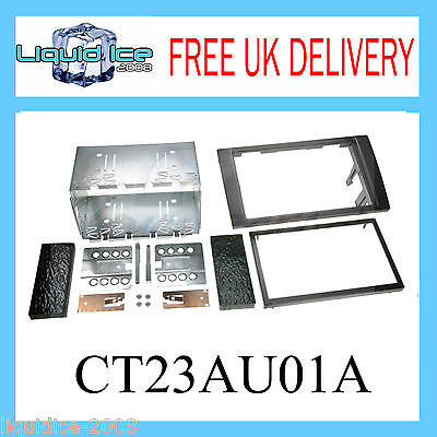 CT23AU01 AUDI A4 2003 to 2012 BLACK DOUBLE DIN FASCIA FITTING KIT PANEL STEREO