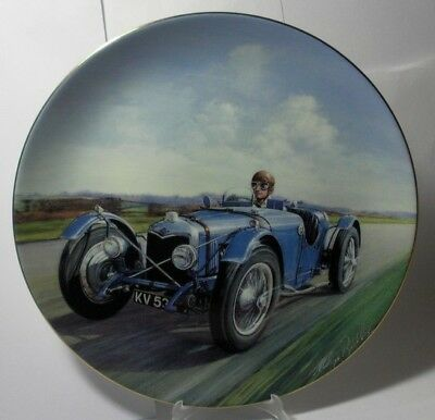 Coalport England Classic Cars Plate The Brooklands Nine Cp183 Mint In Box