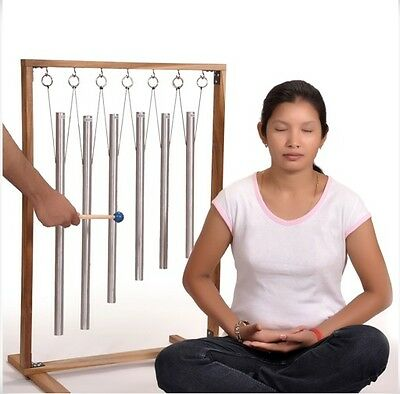 6 Sacred Solfeggio Pipes-Healing Meditation Relax-with ready-to-assemble stand
