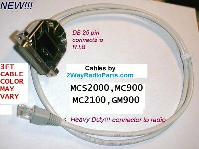 Motorola MCS2000 MCS 2000 R.I.B to Radio Programming Cable Made in the USA !!!