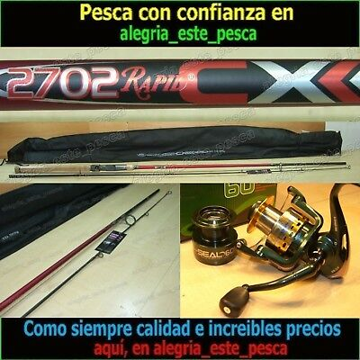 EQUIPO PESCA SPINNING  RAPID CX 2.70m + RAPID SEAL FD60