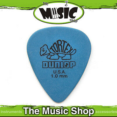 10 x Jim Dunlop Tortex Standard Guitar Picks 1mm Blue - 10TOR Pick Plectrum
