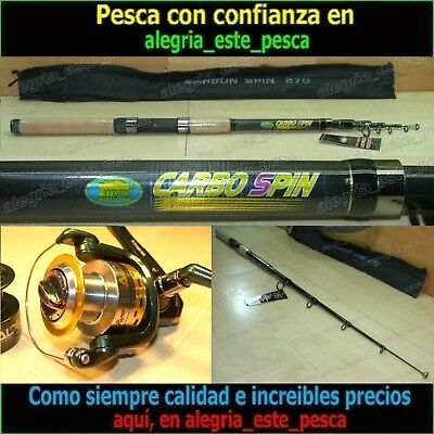 EQUIPO PESCA SPINNING CARBO SPIN 2.70m + RAPID SEAL 60