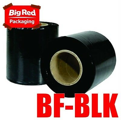 4 x Rolls Black 100mm x 250m 25um Stretch Bundling Film