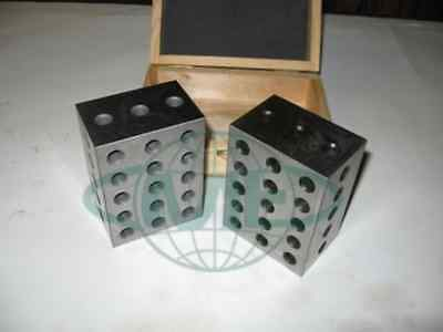 "2-3-4"" 23 hole precision set up block pair-new"
