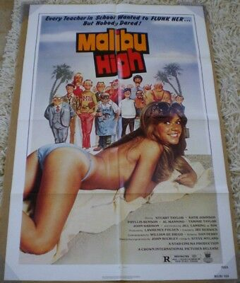 MALIBU HIGH MOVIE POSTER 1 Sheet ORIGINAL FOLDED 27x41