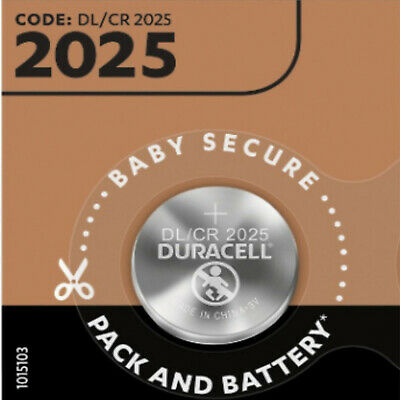 2 X Duracell Cr2025 3v Lithium Coin Cell Battery 2025