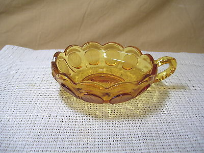 Fostoria Crystal Coin Glass Amber Nappy
