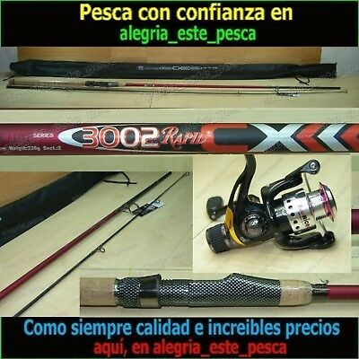 EQUIPO PESCA SPINNING RAPID CX 3.00m + RAPID MICRO RD10