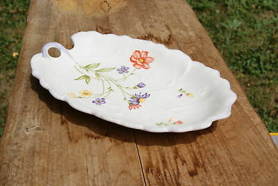 VINTAGE..ESTATE...LEAF SHAPED...FLOWERED...SERVING DISH