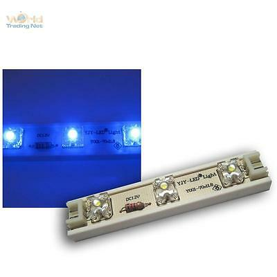 1m LED Strip 7 SuperFlux LED Module flex 12v BLAU LEDs