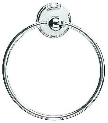 Croydex Westminster Towel Ring Chrome With Fixings Silver