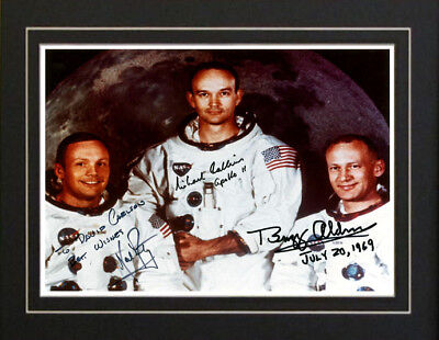Apollo 11 Astronaut Moon Walk Autographed Signed Photo