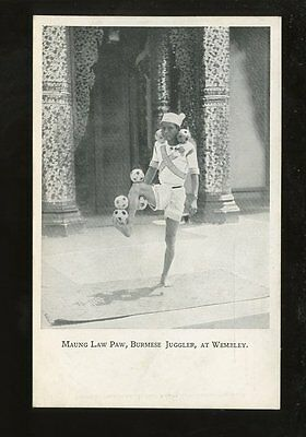 JUGGLER 1924 Exhibition PPC MAUNG LAW PAW