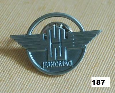 HANOMAG Logo Emblem Traktor Trecker Pin Button Sticker Anstecknadel Badge # 187