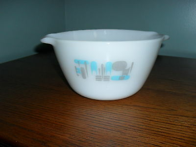 1970's Anchor Hocking/Fire King WHITE MIXING BOWL