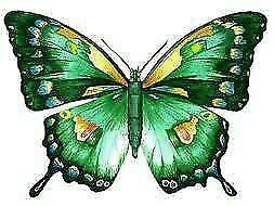 24 x EMERALD GREEN BUTTERFLIES EDIBLE CUPCAKE TOPPERS WAFER RICE PAPER CAKE