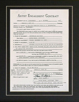 Marvin Gaye How Sweet it is Autograph Photo Contract