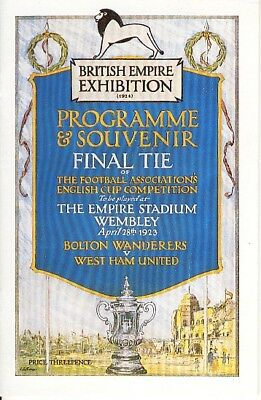 FA CUP FINAL REPRINT 1923: Bolton v West Ham United