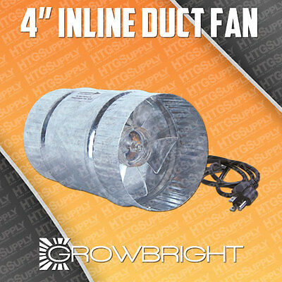 4 inch INLINE DUCT BOOSTER FAN exhaust blower cooling