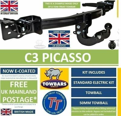 Towbar for Citroen C3 Picasso MPV 2009 to 2017 Flange Tow-Trust TP1
