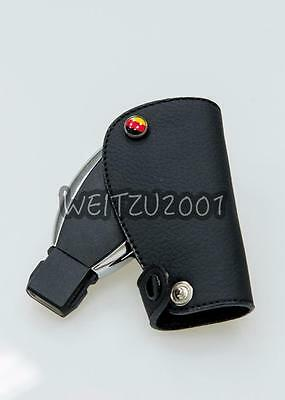 MERCEDES BENZ LEATHER TWIST ROPE KEYRING AMG A C E CLASS KEY RING