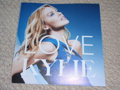 KYLIE MINOGUE Very RARE Japanese LOVE CD foldout promo only flyer COLLECT!