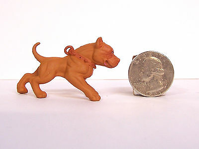 "Hood Hounds Red Nose Pit bull Pitbull Dog 1.5"" Diorama Figurine Figure Homies"