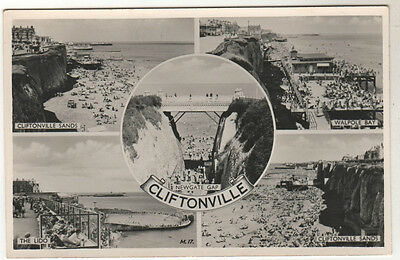 Cliftonville - Multiview Real Photo Postcard c1950