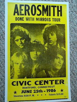 Aerosmith Done with Mirrors Hartford Ct Concert Poster