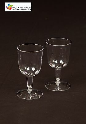 24 - Clear Plastic Wine Glasses