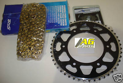 Suzuki RM400 78 GOLD Chain and Sprocket Set Kit HDR Race