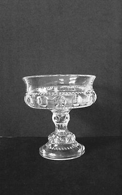 Indiana Glass Clear Kingscrown Compote 1950 - 1965
