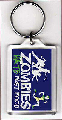 Funny Keychain Zombies Hate Fast Food **Fast SSH**