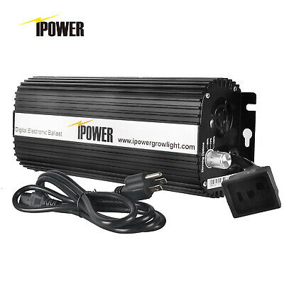 iPower 400w 600w 1000w Watt Dimmable Digital Ballast for Grow Light HPS MH Bulb