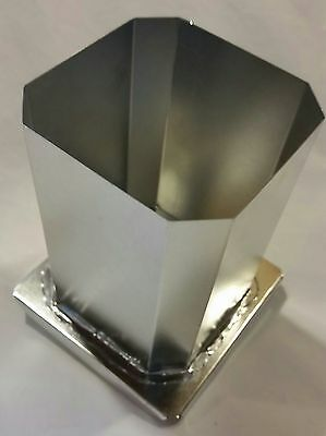 "Square Pillar Candle mold w/Angled Corners 3""x 4 1/2"""