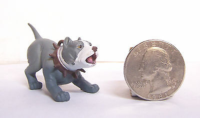 "New 1- Blue Nose Barking Pit bull Dog 1.75"" Diorama Figurine Figure Hood Hounds"
