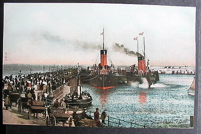 UK DOUGLAS ISLE OF MAN THE LANDING PIER 1900s crowds