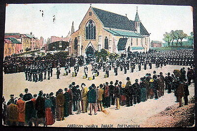 Uk Portsmouth Garrison Church Parade 1906