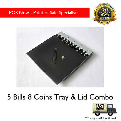 *NEW* 5 Bill 8 Coins Cash Tray & Lockable Lid Cover