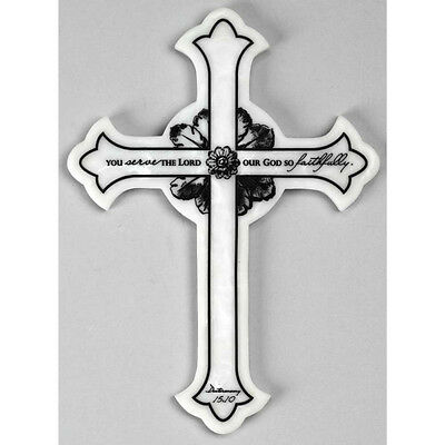 You Serve The Lord Marbled Stone Wall Cross
