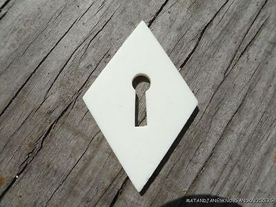Antique Style Escutcheon Keyhole Natural White Material