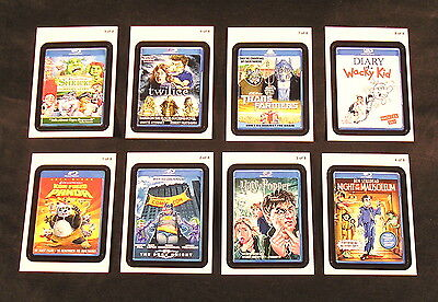 2011 Topps Wacky Packages ANS8 Series 8 GO to the MOVIES SET of 8 STICKERS nm+