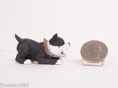 """Hood Pups Puppy Hounds Black Pit Bull Dog 2"""" Figure Paint Imperfections NEW RARE"""